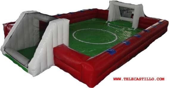 Castillo hinchable futbolín